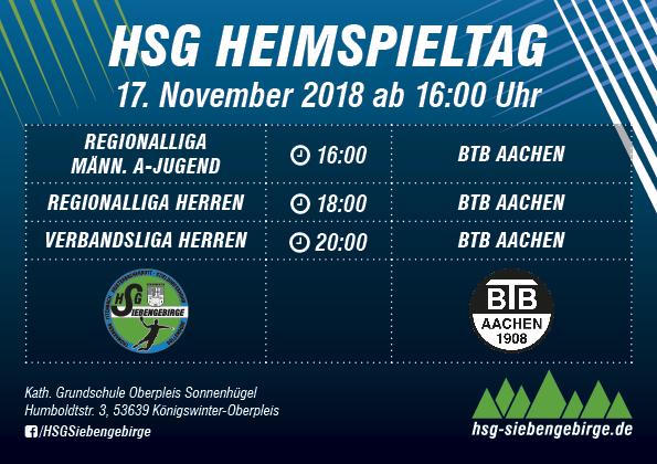 HSG Heimspieltag 17 11 2018