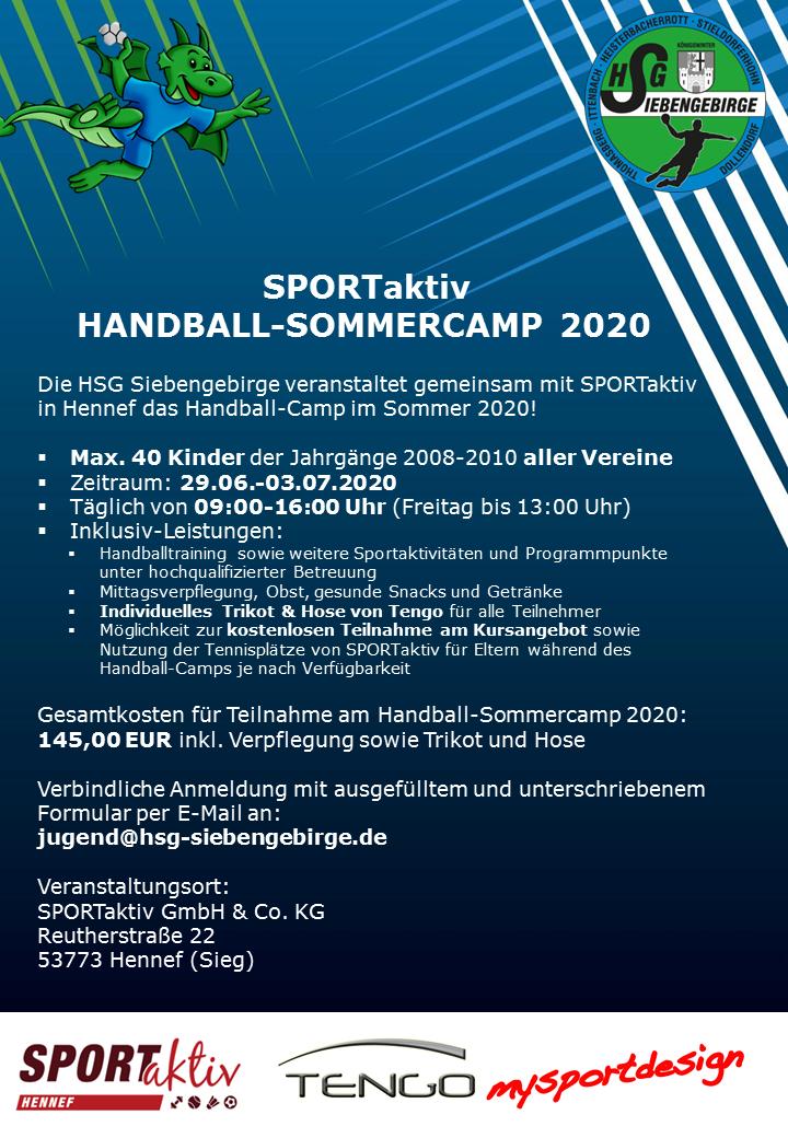 SPORTaktiv HSG SOMMER CAMP 2020 V3