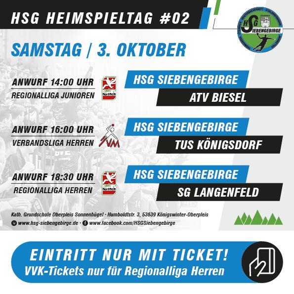 HSG Heimspieltag 03 10 2020