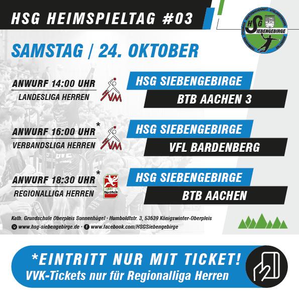 HSG Heimspieltag 24 10 2020