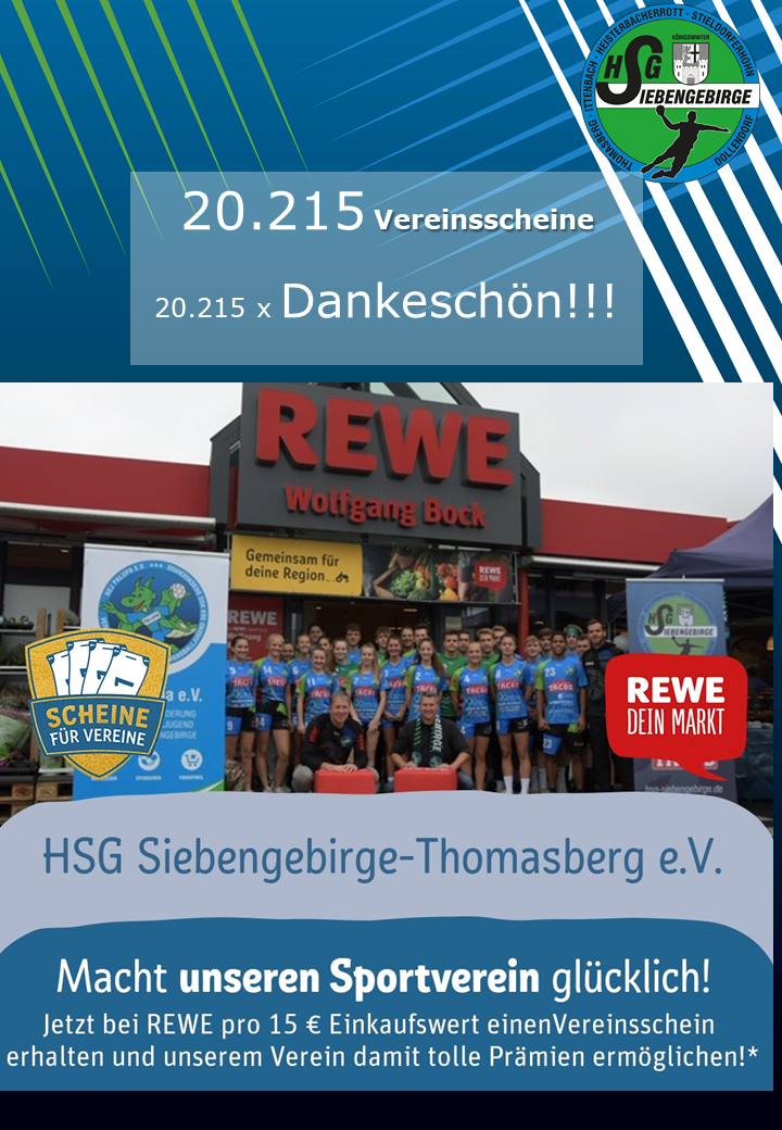 HSG Vereinsscheine Danke